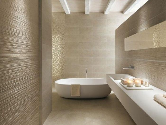 Carrelage salle de bain taupe et beige - Atwebster.fr - Maison et ...