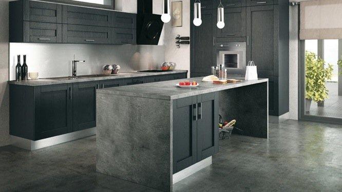 Modele de cuisine en beton cire maison et mobilier - Meuble en beton cire ...
