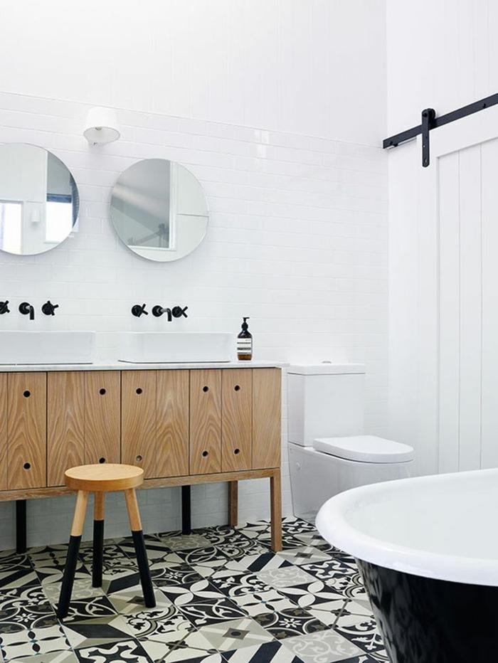 Carrelage noir et blanc salle de bain - Atwebster.fr - Maison et ...