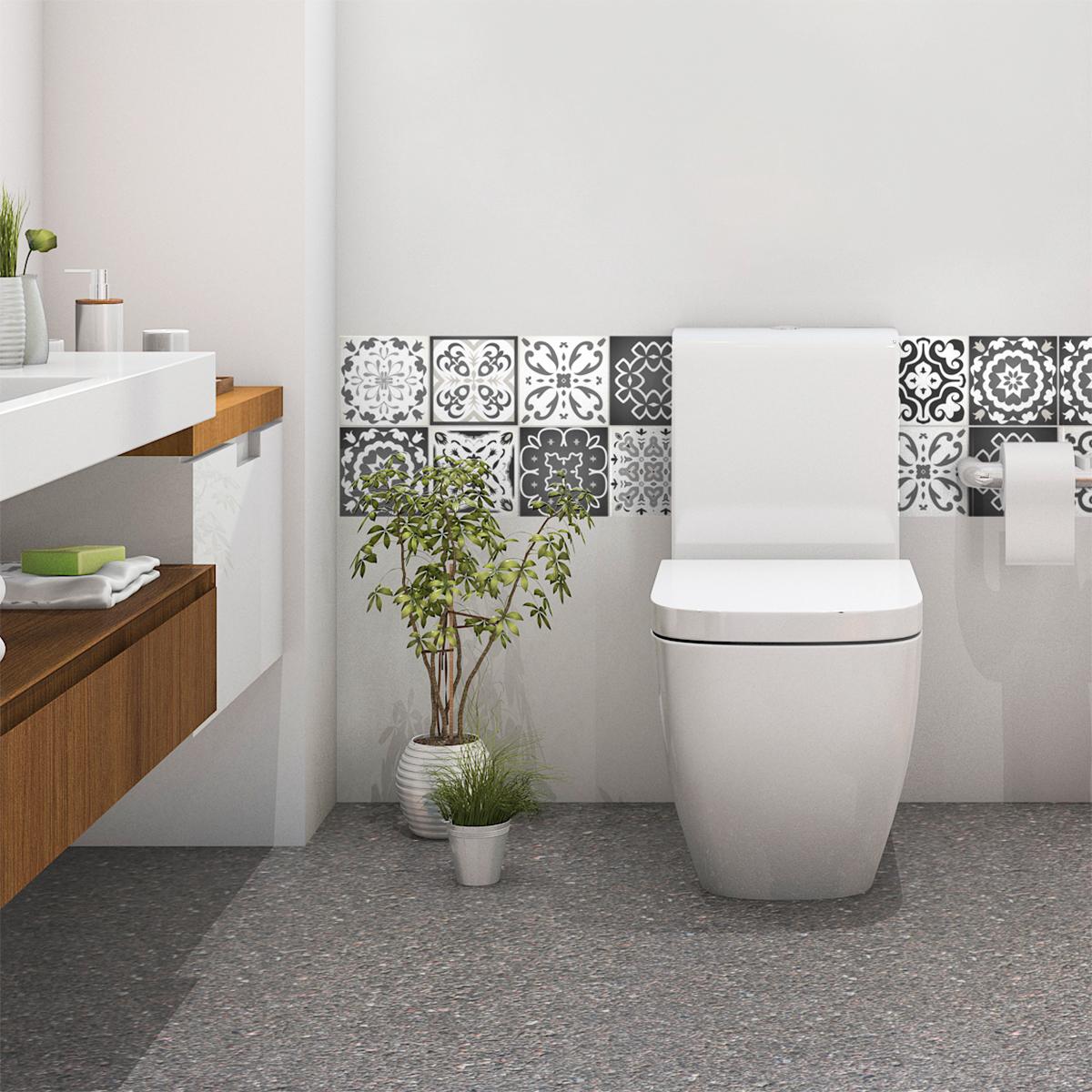 Wc carrelage ciment - Atwebster.fr - Maison et mobilier