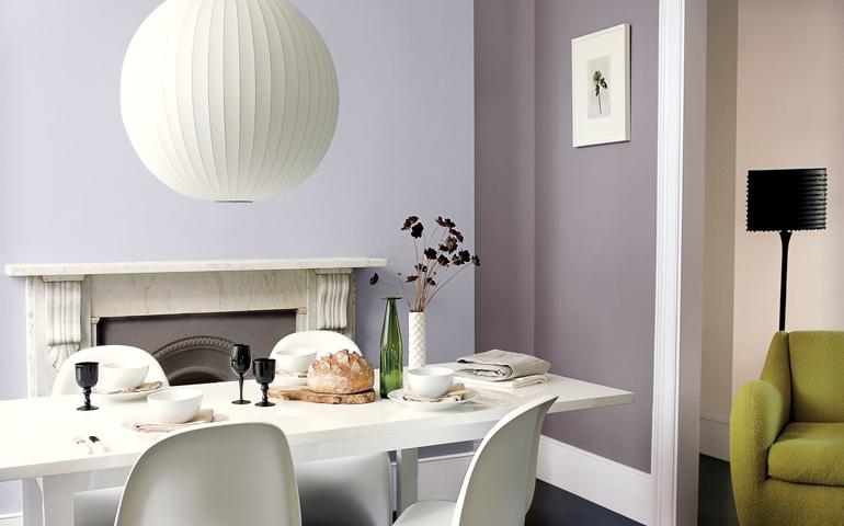 Couleur peinture cuisine salle manger maison et mobilier - Peinture cuisine violet ...