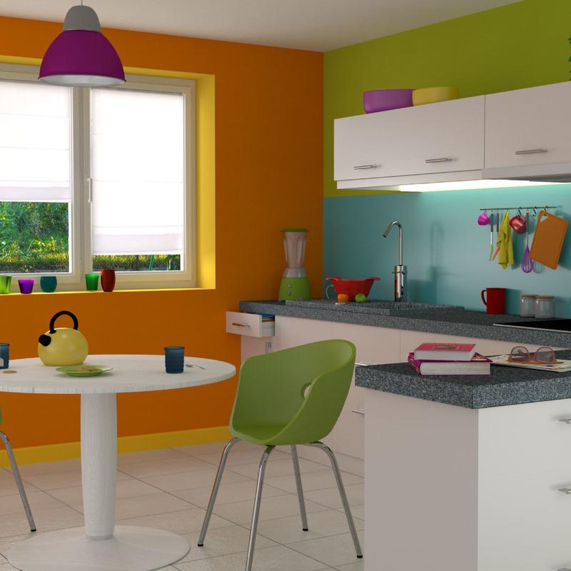 Couleur Peinture Cuisine Orange Atwebsterfr Maison Et Mobilier