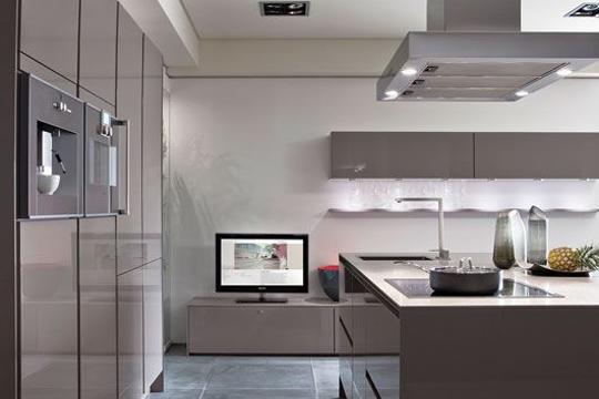 carrelage gris taupe cuisine maison et. Black Bedroom Furniture Sets. Home Design Ideas