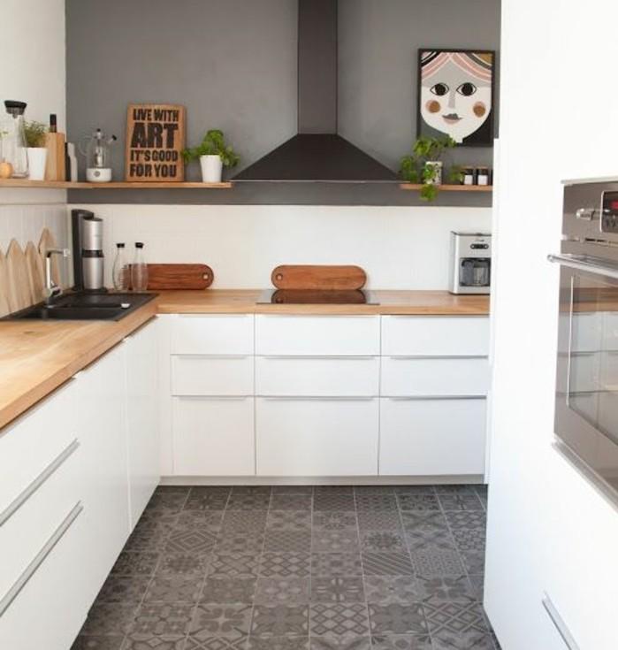 Idee deco cuisine blanche et verte - Atwebster.fr - Maison et mobilier