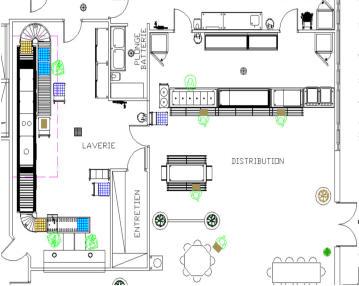 Plan dune cuisine de restaurant - Plan cuisine professionnelle normes ...