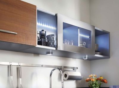 Meuble haut cuisine porte en verre