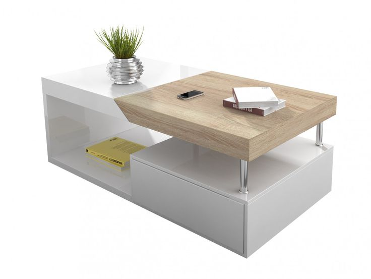 Table basse blanche avec rangement de bar intégré - Atwebster.fr ... 5e02831e6c40