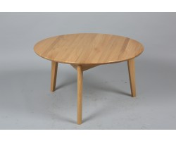 Table basse ronde bois clair