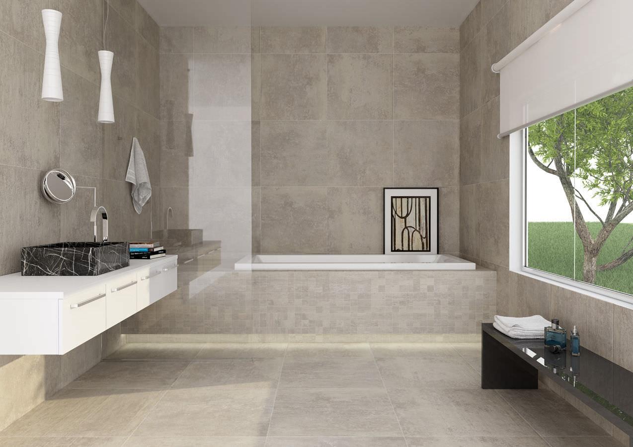 carrelage brillant ou mat pour salle de bain - atwebster.fr - maison