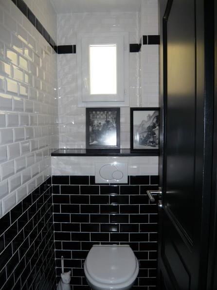 Carrelage noir et blanc toilette