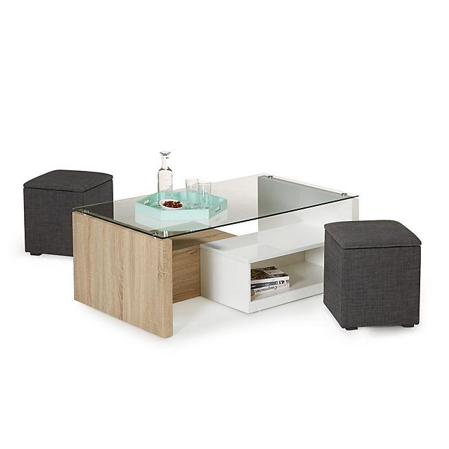 Alinea table basse avec pouf - Atwebster.fr - Maison et mobilier