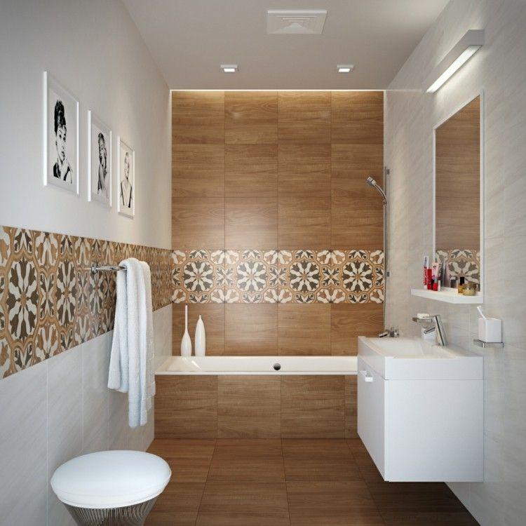 Carrelage salle de bain imitation bois - Atwebster.fr - Maison et ...