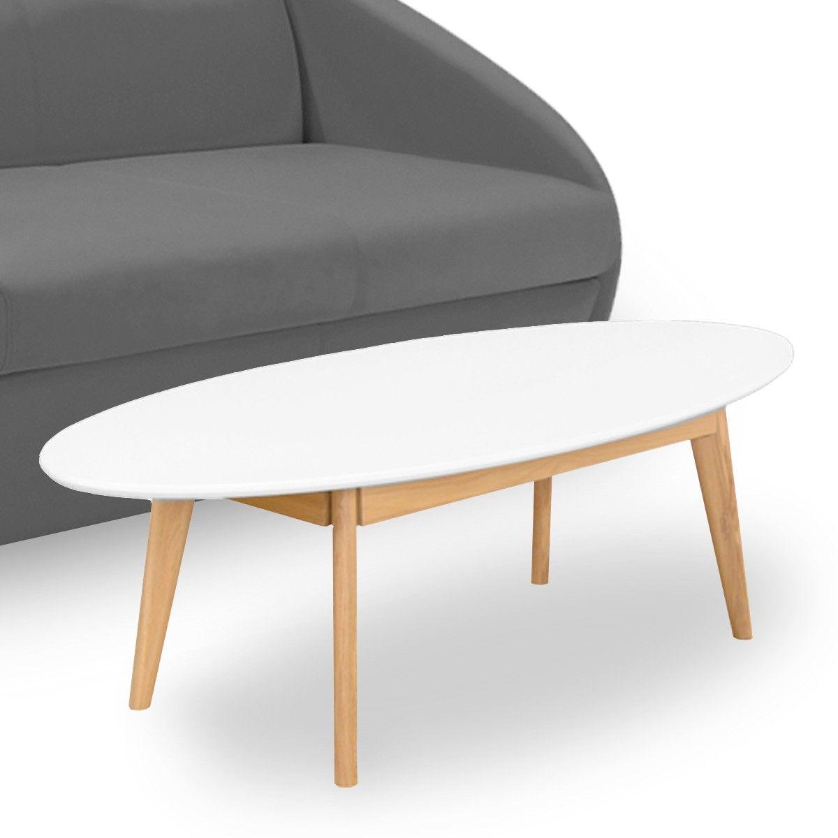 Table Basse Vintage Scandinave Blanche Atwebster Fr Maison Et