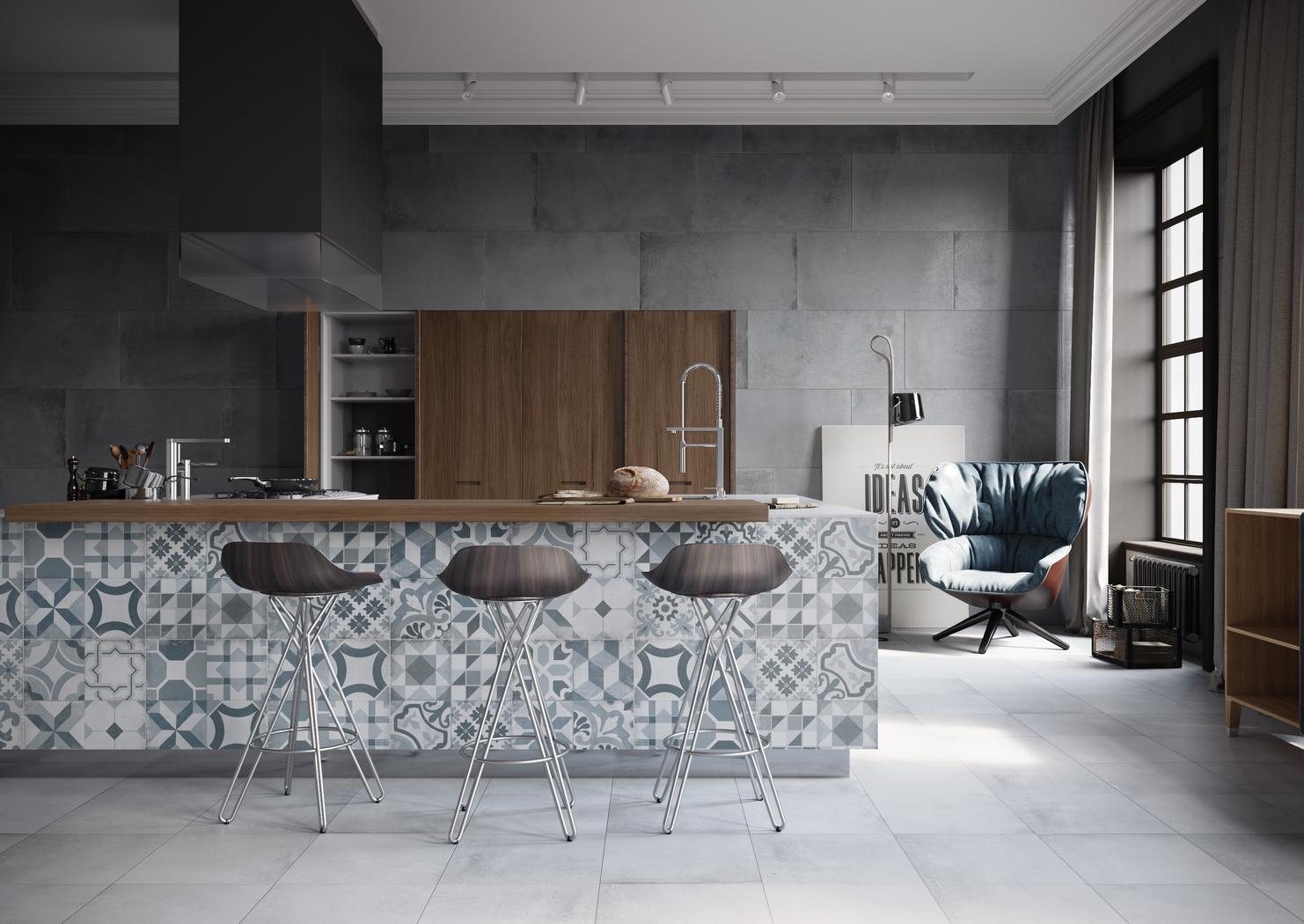 Deco carrelage cuisine ouverte - Atwebster.fr - Maison et mobilier