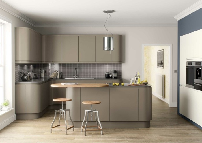 couleur peinture cuisine meuble gris maison et mobilier. Black Bedroom Furniture Sets. Home Design Ideas