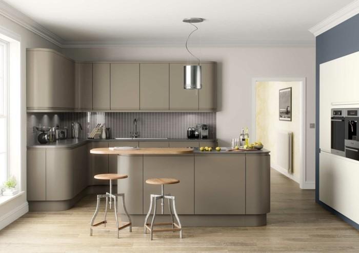 Couleur peinture cuisine gris clair - Atwebster.fr - Maison et mobilier