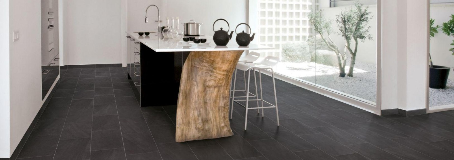 Carrelage aspect ardoise noir - Atwebster.fr - Maison et mobilier
