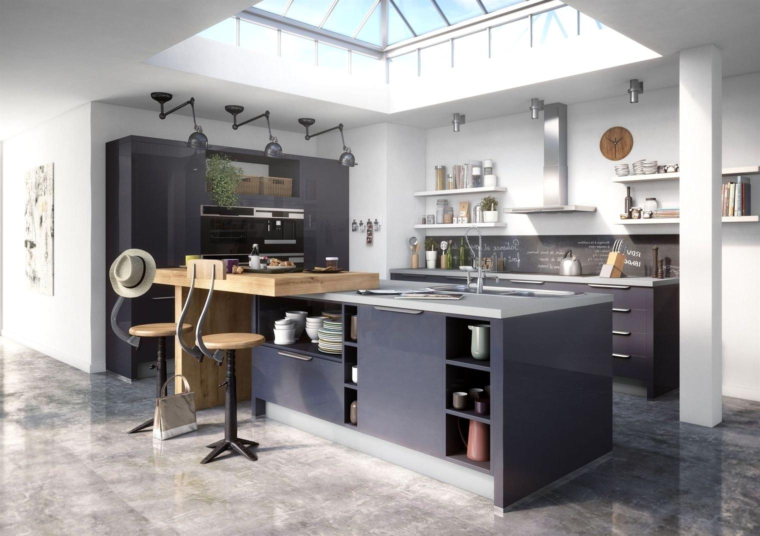 Plan de cuisine en u avec ilot - Atwebster.fr - Maison et ...