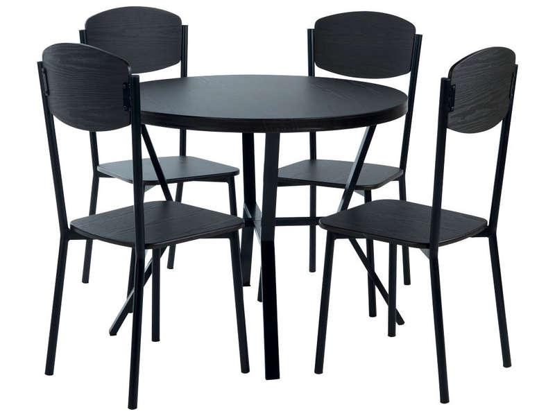Table de cuisine noir conforama - Atwebster.fr - Maison et mobilier