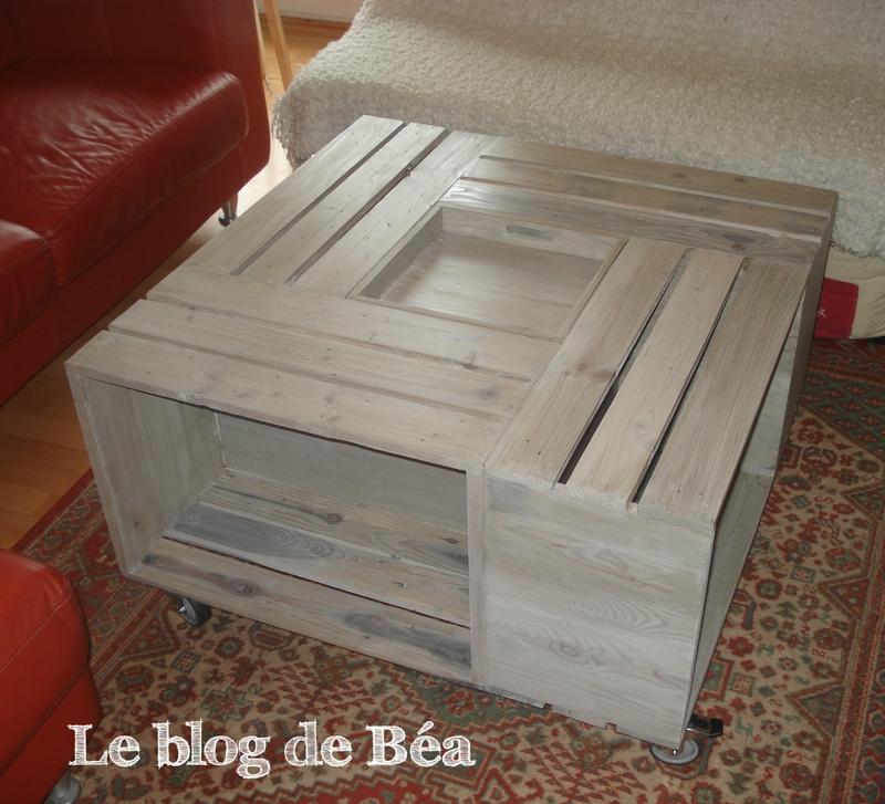 Table basse faite avec palette - Atwebster.fr - Maison et mobilier