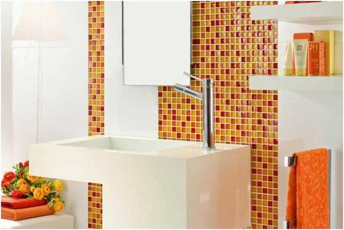 Carrelage blanc orange - Atwebster.fr - Maison et mobilier