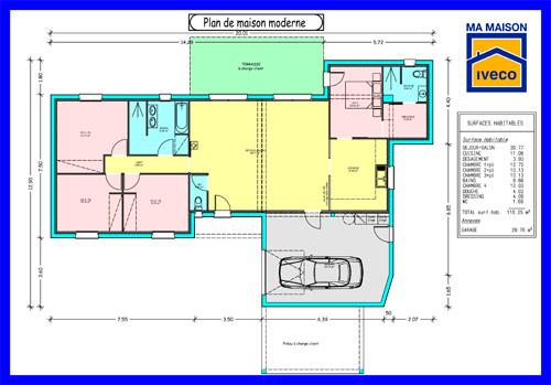 Plan maison cuisine americaine - Atwebster.fr - Maison et mobilier