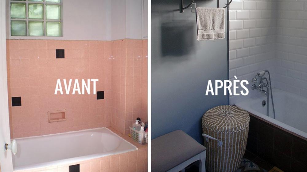 Carrelage salle de bain ou peinture - Salle de bain peinture ou carrelage ...
