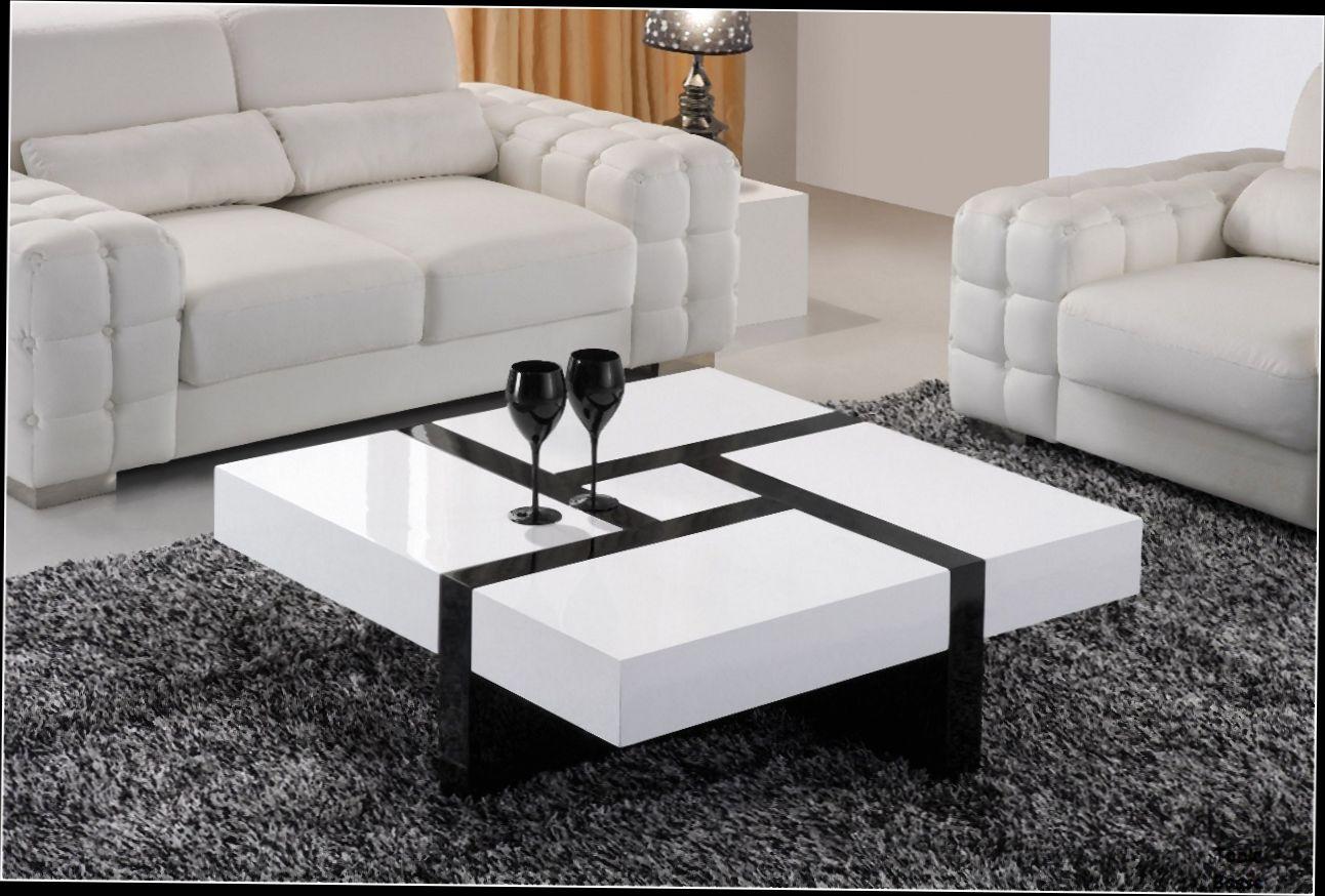Table Basse Noir Et Blanche Avec Rangement Atwebsterfr Maison