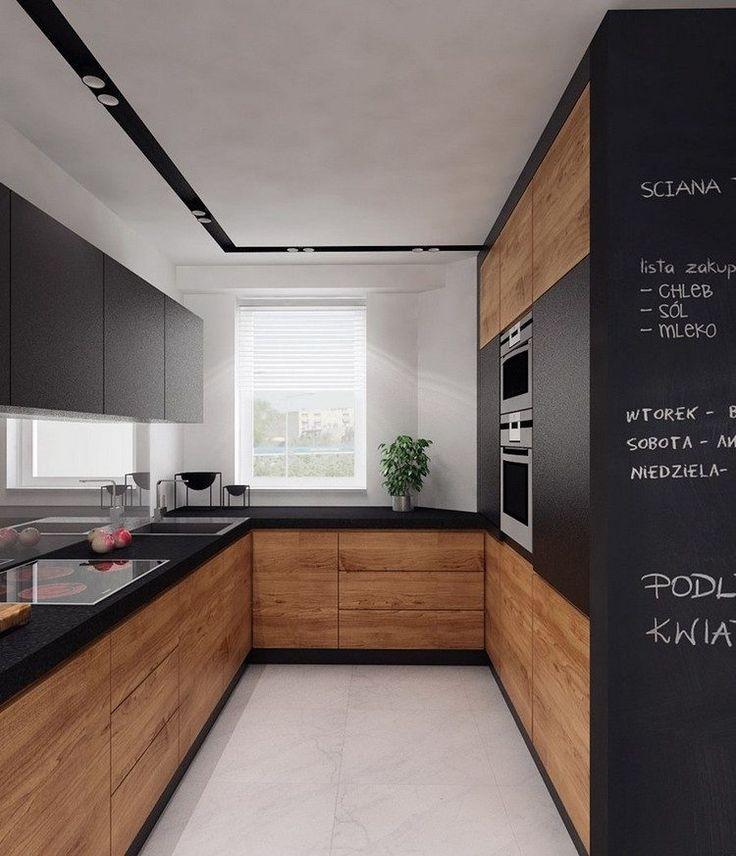 Cuisine Noir Mat Plan De Travail Bois Atwebster Fr Maison Et