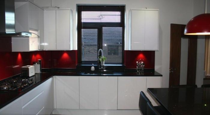Decoration cuisine noir et rouge maison et mobilier - Cuisine noir et rouge ...
