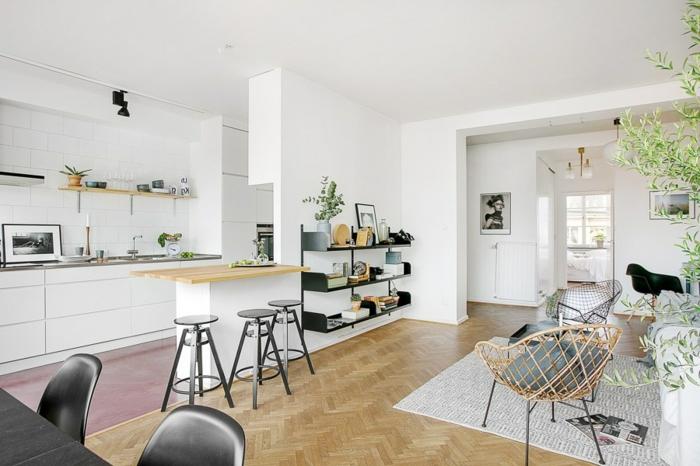 Photo petite cuisine ouverte sur salon - Cuisine ouverte sur salon avec bar ...