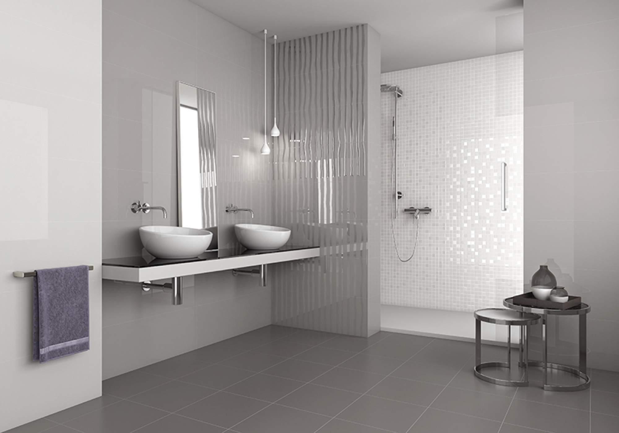 carrelage brillant salle de bain - atwebster.fr - maison et mobilier
