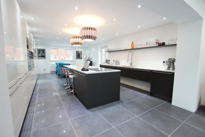 Carrelage sol cuisine gris clair - Atwebster.fr - Maison et mobilier