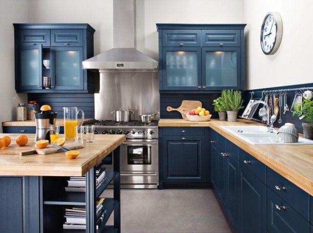 Modele Cuisine Bleu Canard Atwebster Fr Maison Et Mobilier