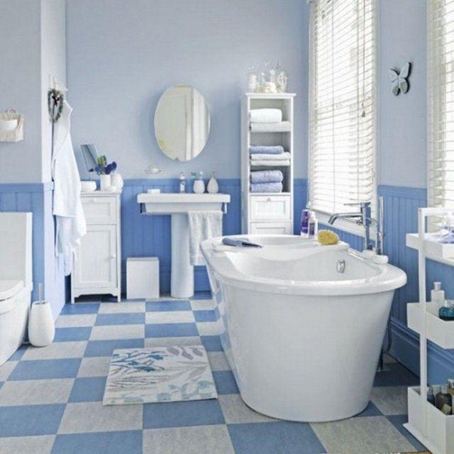 Carrelage Salle De Bain Blanc Bleu Atwebster Fr Maison Et Mobilier