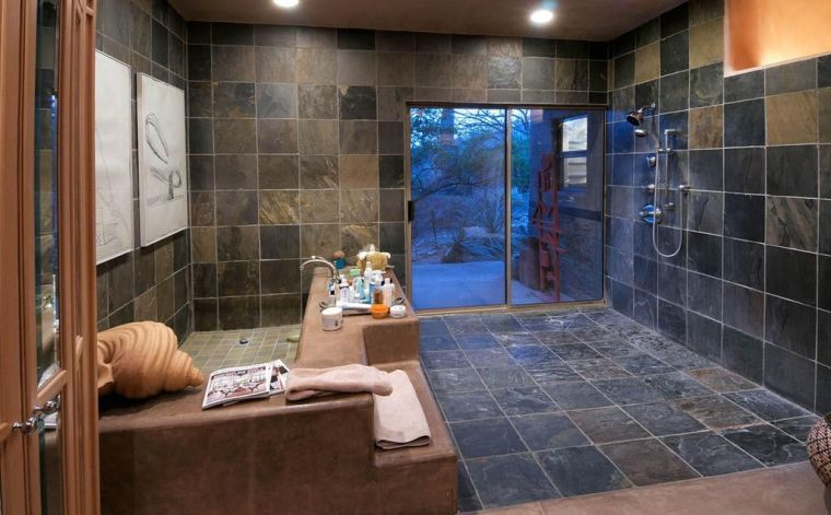 Awesome Mosaique Ardoise Salle De Bain Contemporary   House Design .