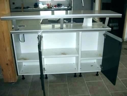 table bar cuisine avec rangement maison et mobilier
