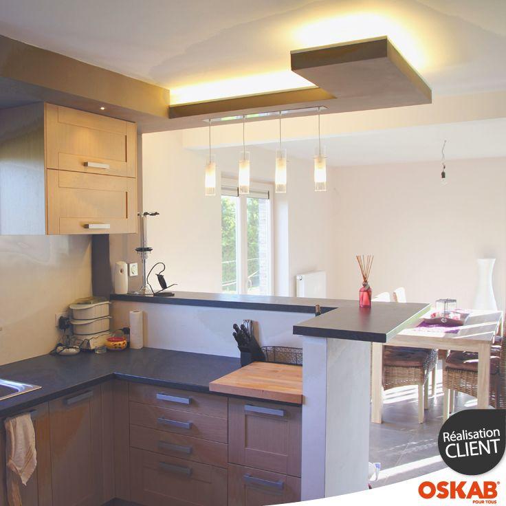 Plan d 39 une cuisine ouverte maison et mobilier - Plan de maison avec cuisine ouverte ...