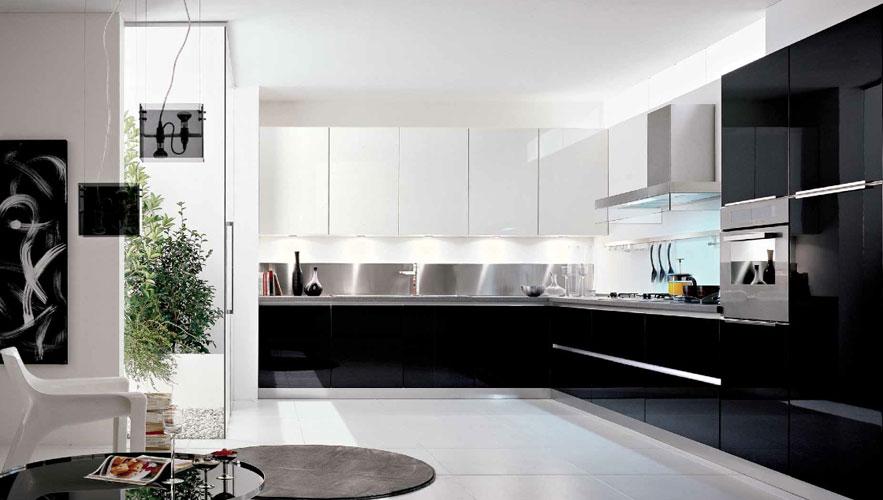 Photo de cuisine blanche et noire maison - Cuisine design noir et blanche ...