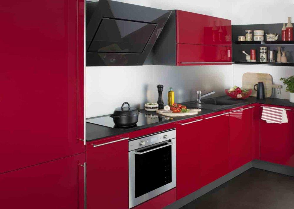 Modele De Cuisine Rouge Et Noir Atwebster Fr Maison Et Mobilier
