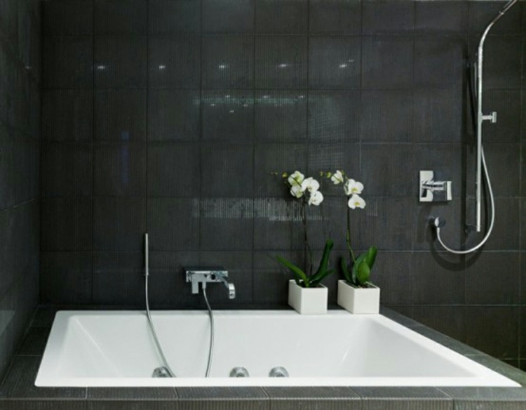 Carrelage noir salle de bain - Atwebster.fr - Maison et mobilier