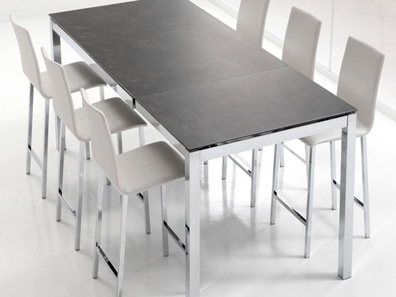 Table De Cuisine Haute En Verre Atwebster Fr Maison Et Mobilier