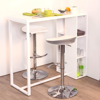 Table Bar Cuisine Blanche Atwebsterfr Maison Et Mobilier