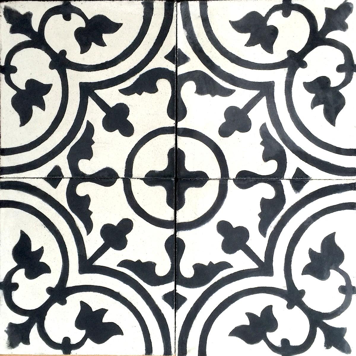 Carrelage imitation ciment noir et blanc