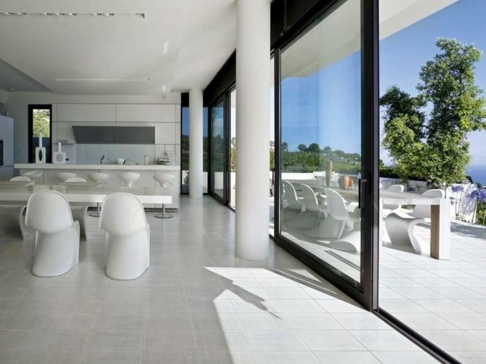 Carrelage brillant blanc cassé - Atwebster.fr - Maison et mobilier
