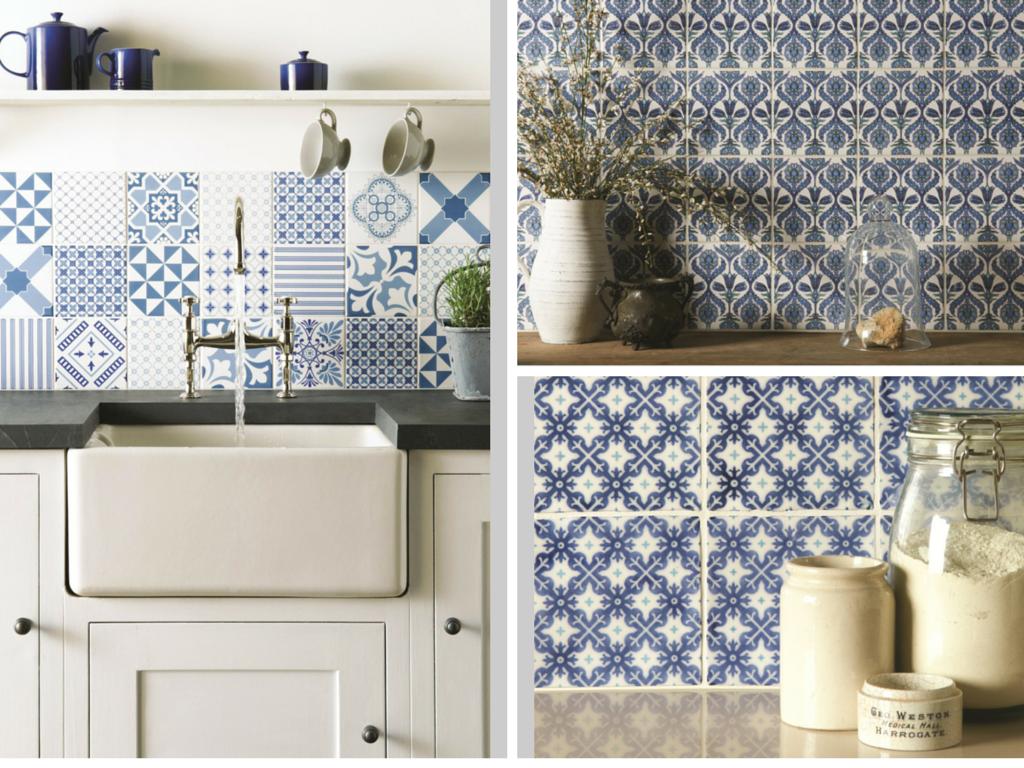 Carrelage azulejos cuisine maison et mobilier - Cuisine avec carreaux de ciment ...