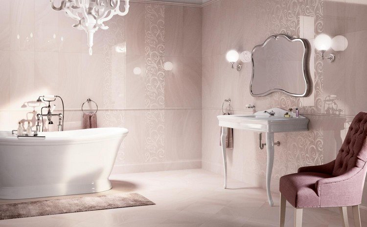 Carrelage salle de bain rose - Atwebster.fr - Maison et mobilier