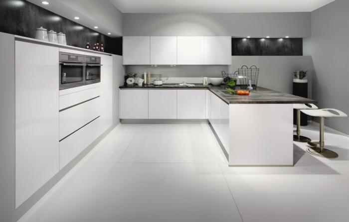 Carrelage blanc pour sol cuisine maison - Materiel pour carrelage ...
