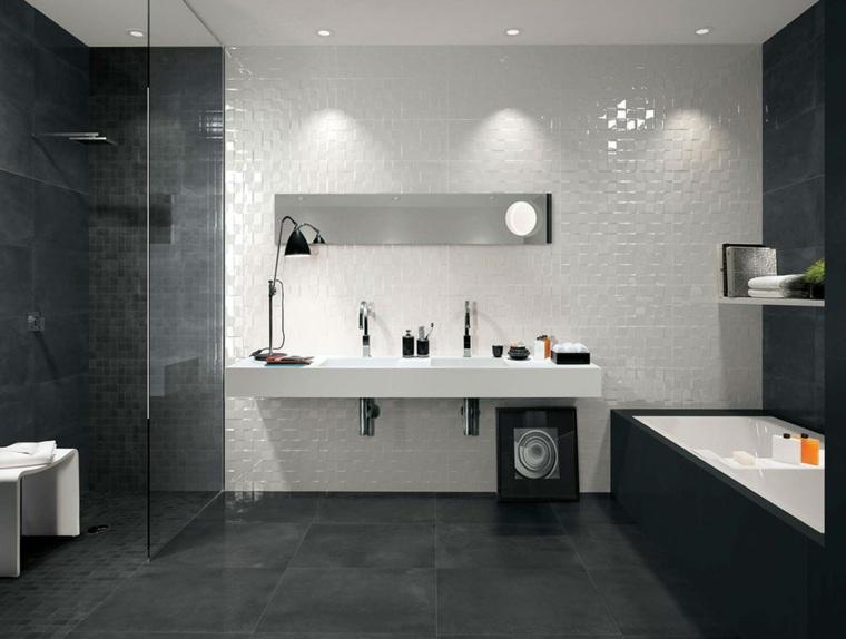 Carrelage salle de bain noir brillant - Atwebster.fr - Maison et ...
