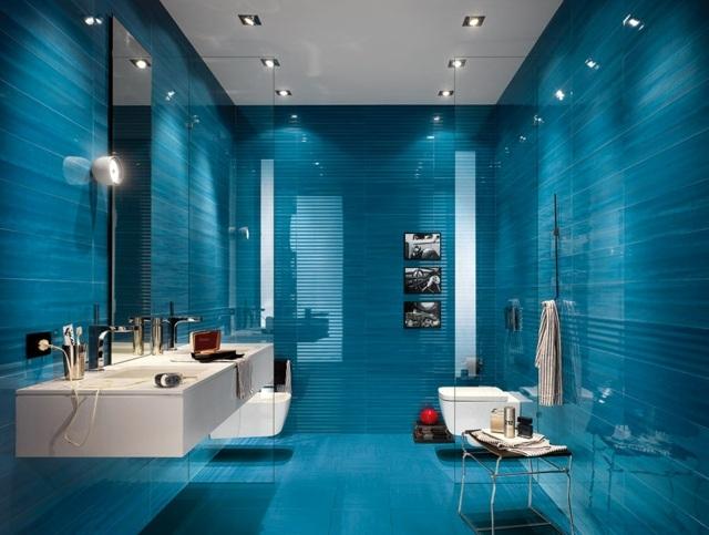 Carrelage sol bleu canard - Atwebster.fr - Maison et mobilier